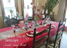 Set a romantic table for 2 with budget-friendly Valentine tablescape how-to's.
