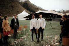 These Design Loving Grooms Planned an Elegant Outdoor Wedding at Moke Lake Wedding Film, Wedding Looks, Wedding Images, Wedding Ceremony, Wedding Venues, Neutral Wedding Colors, Lakeside Wedding, Stylish Couple, Bridezilla