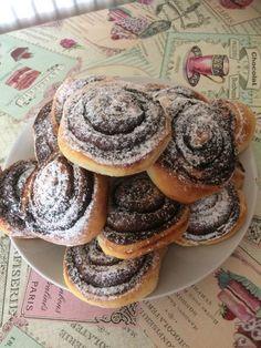 Egy tésztából készíthetünk kakaós csigát és lekváros buktát. Kellemes időtöltést kívánok mindenkinek! Hozzávalók 1 kg finomliszt, 3 evőkanál cukor vanília tetszés szerint 5 dkg élesztő[...] Cookie Monster, Muffin, Snacks, Cookies, Breakfast, Recipes, Food, Crack Crackers, Morning Coffee