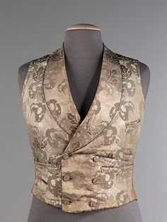 Wedding Vest  Date: 1840–49 Culture: British Medium: silk, cotton, leather