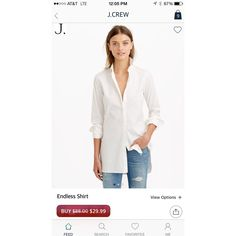 Nothing more classic than a white button down. Love this one from #jcrew available through a huge sale on Miner!