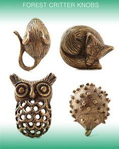 forest critter knobs #anthropologie