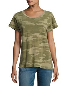 The Crewneck Camouflage Tee, Green