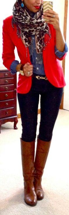 "Red blazer #winterfashion ✮✮""Feel free to share on Pinterest"" ♥ www.myextrashoes.com"