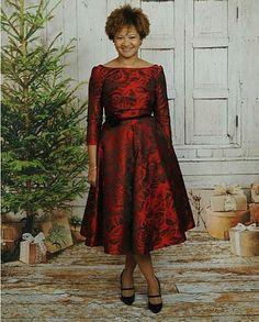 Floral print jacquard swing dress