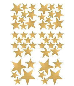 Pom le bonhomme 50 wall stickers gold stars