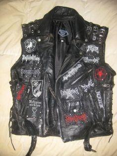 Battle vest / Heavy metal / bands / Mayhem / Marduk / Darkthrone / Emperor / Samael / Dissection / Burzum / Graveland / Dimmu Borgir / Armagedda / Gorgoroth / Satanic Warmaster / Immortal / Satyricon / Inquisition / Limbonic Art / Watain / Denial Of God / Pest Torgeist