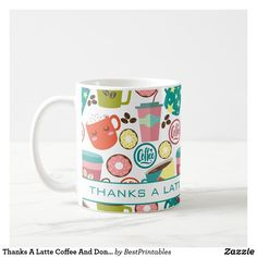 Thanks A Latte Coffee And Donuts Appreciation Coffee Mug #thankyougifts #appreciationgifts #mugs #coffeemugs #affiliate Thank You Teacher Gifts, Teacher Appreciation Gifts, Preschool Teacher Gifts, Classroom Teacher, Coffee Latte, Coffee Mugs, Thanks A Latte, Coffee And Donuts, Personalized Mugs