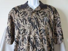 New Walt Disney World Golf Classic 1971 Polo Shirt Greg Norman Tan Black Size Medium