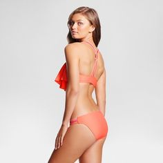 Women's Strappy Flounce Bralette Bikini Top - Xhilaration™