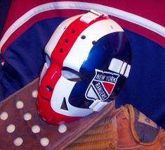 john davidson vintage goalie masks Hockey Helmet, Hockey Goalie, Ice Hockey, Football Helmets, Nhl, John Davidson, Rangers Hockey, Goalie Mask, Best Masks