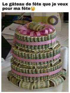 Tarta de dinero (Idea para regalo de graduación o cumpleaños) - DIY Money Cake (gift idea for graduation or birthday) Creative Gifts, Cool Gifts, Diy Gifts, Simple Gifts, Creative Art, Creative Ideas, Don D'argent, Money Cake, Gift Money