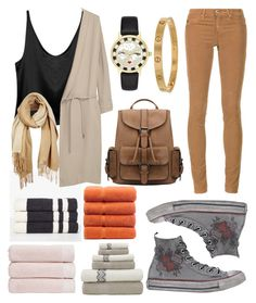 """""""OOTD"""" by anafilipafonseca2004 on Polyvore featuring James Perse, MANGO, AG Adriano Goldschmied, Christy, Converse, Kate Spade, Cartier and Unpaired"""