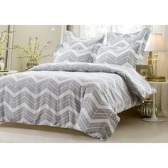 Grey-and-White-Zig-Zag-Duvet-Cover-Set-Style-1016-Cherry-Hill-Collection