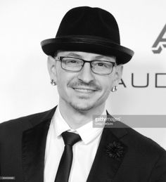 Musician Chester Bennington of Linkin Park arrives at Warner Music Group's Annual GRAMMY Celebration at Milk Studios on February 12, 2017 in Hollywood, California.