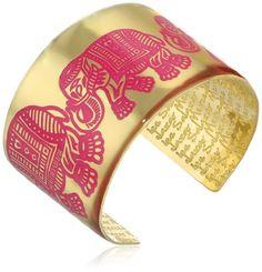 Mercedes Salazar Fuchsia Handmade Brass Enameled Red Cuff Bracelet >>> To view further, visit http://www.amazon.com/gp/product/B00JGQNQIC/?tag=ilikeboutique09-20&uv=090716223217