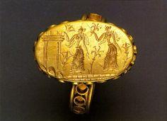 Signet ring - Minoan Crete, Greece.