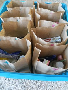 Blessing bags for the homeless - There are also lots of other great ideas for what to fill them with, scriptures to include, etc. floating around on Pinterest. The example on this blog is a good starting point. Feeling like God wants me to do this :-)