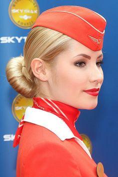 Aeroflot Stewardess image flickr via Google search