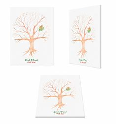 The Best Fingerprint tree / Guestbook / by FingerprinttreeLtd https://www.etsy.com/il-en/listing/182632157/the-best-fingerprint-tree-guestbook