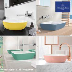 Meer #kleur in de badkamer? Dat kan met #Villeroy & Boch #Artis! 12 nieuwe trendkleuren fleuren je #badkamer op. Klik of de afbeelding en ontdek deze kleurrijke serie.