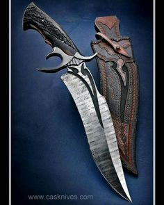 An excellent chef's knife will usually have a blade long. It will be used for slicing, dicing, chopping and mincing. Cool Knives, Knives And Swords, Pretty Knives, Unique Knives, Armas Ninja, Trench Knife, Beil, Damascus Knife, Best Pocket Knife
