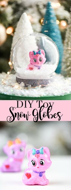 DIY Toy Snow Globes
