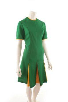 60s kleid grun