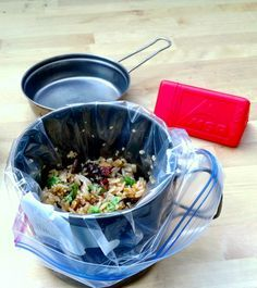 Homemade, cheap, tasty backpacking meals - just add hot water! And no mess!