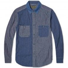 Nigel Cabourn Chambray Shirt Three Colour Mix