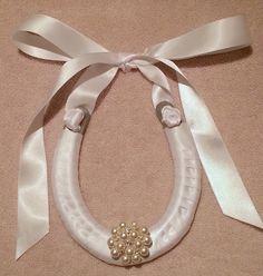 Lucky Wedding Horseshoe With Pearl BroochWhite door LuckyPonyShop, $45.00