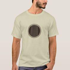 Guitar (minimalist design) T-shirt, Men's, Size: Adult XL, Brown Mens Printed T Shirts, Best Guitar Players, Guitar Gifts, Minimalist Design, Fitness Models, Told You So, Acoustic Guitar, Casual, Mens Tops