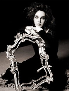 Isabelle Adjani. Presumably the frame contained an ageing portrait of the French movie and singing belle dame?