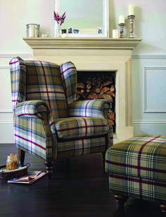 The Heart of House Argyll Fabric Chair in Autumn Tartan brings a touch of elegance and traditional style to your living room. Living Room Paint, Cozy Living Rooms, New Living Room, Living Room Interior, Living Room Chairs, Living Room Furniture, Home Furniture, Living Room Decor, Furniture Chairs
