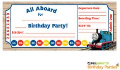 9 Train Birthday Invitations For Kid Free Printable Templates Party