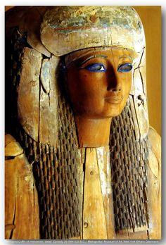 Anthropoid Coffin of Heresenes, detail. Dynasty 26 (664-525 B.C.). Metropolitan Museum of Art, New York.