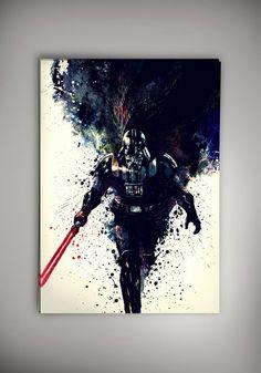 Star Wars, Star Wars Poster, Darth Vader, Lord Vader Poster Watercolor by Zapalkowo on Etsy https://www.etsy.com/listing/473607784/star-wars-star-wars-poster-darth-vader