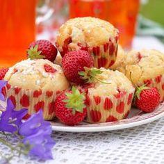Hastbullar med jordgubbar