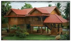Super Tropical House Design Philippines Home 68 Ideas Wooden House Design, Bamboo House Design, Tropical House Design, Simple House Design, Tropical Houses, Thai House, Style At Home, Philippines House Design, Rest House Philippines