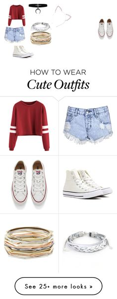 """""""Cute outfit for Ash"""" by cheetah-caroline on Polyvore featuring Glamorous, Converse, West Coast Jewelry and Kendra Scott"""