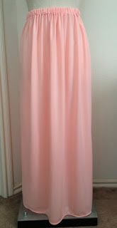 YouTube Tutorial: How To Make A Maxi Skirt ~ Classy Peach
