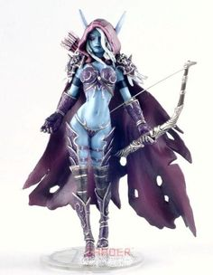 "World of Warcraft Lady Sylvanas Windrunner Statue (click image for post on an ""Otaku Room"")"