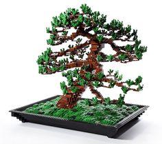LEGO bonsai tree by Makoto Azuma
