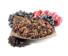 Blueberry Bliss Rooibos Tea -- Rooibos teas help promote the immune system, digestion, relieves upset stomach, and it's caffeine free!! -- Tastes great and blends well with other teas!!