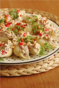 Conchiglie farcis Ricotta, thon, poivron, tomate séchée_2