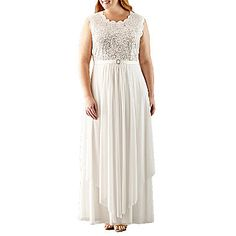 Penney's FREE SHIPPING AVAILABLE! Buy R & M Richards Sleeveless Lace Evening Gown-Plus at JCPenney.com today and enjoy great savings. Available Online Only!