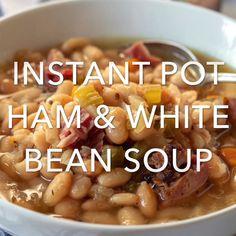 Pot Ham and Bean Soup Instant Pot Ham and White Bean Soup, smoky ham and bean soup in about an hour, no need to presoak the beans.Instant Pot Ham and White Bean Soup, smoky ham and bean soup in about an hour, no need to presoak the beans. Soup Beans, Ham And Bean Soup, Ham Soup, White Bean Soup, Instant Pot Pressure Cooker, Pressure Cooker Recipes, White Beans And Ham, Red Beans, Bean Soup Recipes