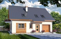 EWA wersja B zwężona paliwo stałe Ewa - Design Case, Home Fashion, Shed, Outdoor Structures, House Design, Mansions, House Styles, Outdoor Decor, Home Decor