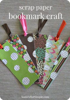 scrap paper bookmark craft - great summer reading project idea!