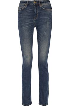 M.I.H JEANS Daily Distressed Mid-Rise Straight-Leg Jeans. #m.i.hjeans #cloth #jeans